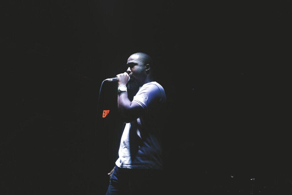 Indie artist performing